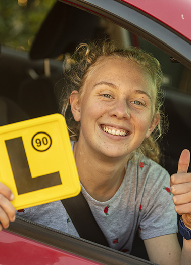 Girl gets her Learner's permit