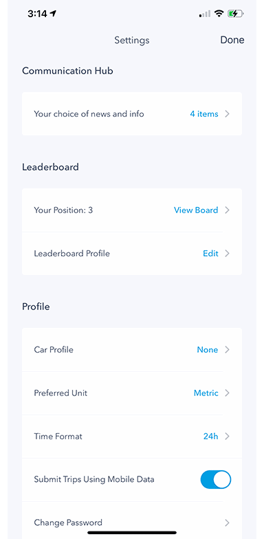 Mobi onboarding profile