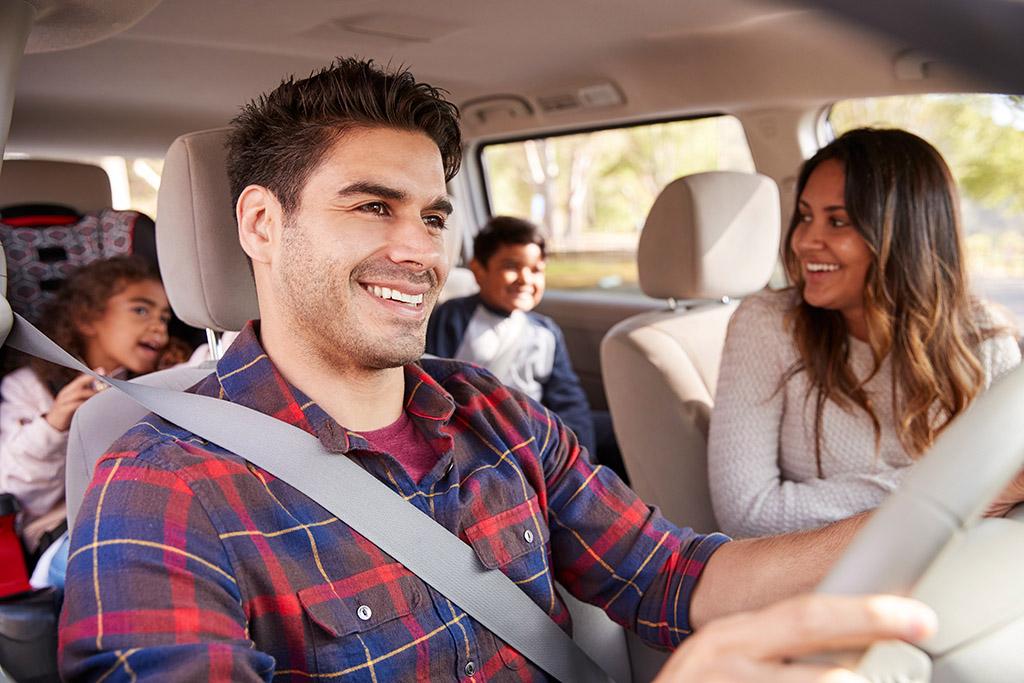 Girls on a road-trip. No seatbelts!